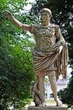 Replica of roman statue of emperor Augustus stock photos