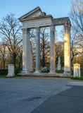 Replica roman temple ruins in Villa Borghese Royalty Free Stock Images