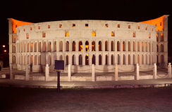 The replica of Rome`s Colosseum Royalty Free Stock Images
