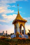 The replica of royal crematorium of His Majesty late King Bhumibol Adulyadej built for the royal funeral at The Royal Plaza Stock Photo