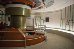 Replica of a running turbine axel of Itaipu Dam Royalty Free Stock Photo