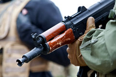 Russian rifle. This is the a replica of a russian made gun - airsoft replica Stock Images