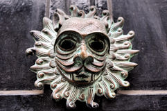 Replica of Sanctuary knocker from Durham Cathedral Royalty Free Stock Images