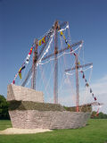Replica of Santa Maria ship Stock Photo