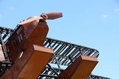 Replica seaplane monument. SAO BRAS DE ALPORTEL, PORTUGAL: 30th april, 2017 - First aerial crossing of the South Atlantic made by Gago Coutinho and Sacadura Stock Photography