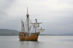 Replica ship. Replica sailing ship at Rothesay, Bute royalty free stock photos