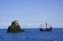A replica of ship Santa Maria Stock Photo