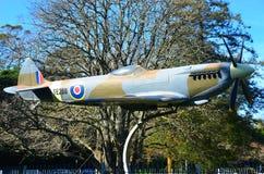 Replica Spitfire Fighter Plane, Memorial Park, Hamilton New Zealand stock photography