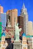 Replica of Statue of Liberty in front of New York - New York hot Stock Image