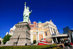 Replica of Statue of Liberty in front of New York - New York hot Royalty Free Stock Image