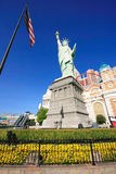 Replica of Statue of Liberty in front of New York - New York hot Stock Photography