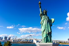A replica of statue of liberty in Odaiba Stock Photography