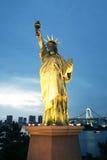 Replica of Statue of Liberty in Tokyo, Japan Stock Photo