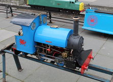Replica steam engine , train Stock Image