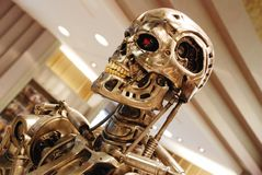 Replica of Terminator for sale. In universal studios, Orlando, USA stock images