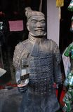 Replica of the terracotta army stock image