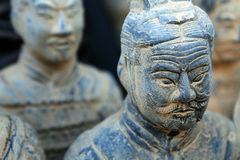 Replica of a terracotta warrior sculpture Royalty Free Stock Photos