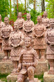 Replica of terracotta warriors in Krasnodar Stock Photography
