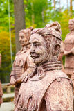 Replica of terracotta warriors in Krasnodar Royalty Free Stock Images