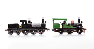 Replica Trains. On a white background royalty free stock images
