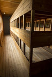 Replica triple bunks. Dachau Concentration Camp. Royalty Free Stock Photo