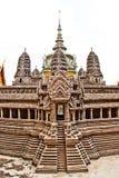 Replica van Angkor Wat bij het Grote Paleis, Bangkok Stock Foto's