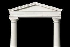 Replica van een oude Griekse tempel Stock Foto's