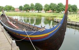 Replica van een schip van Viking Stock Foto