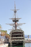Replica van Spaans oorlogsschip Santisima Trinidad in de haven van Alicante Royalty-vrije Stock Fotografie