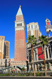 Replica van St Mark Campanile, Venetiaans Toevluchthotel en casino, Stock Foto's