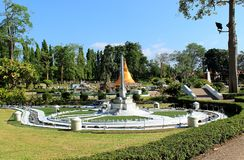 Replica Victory monument in miniature park Pattaya royalty free stock photos