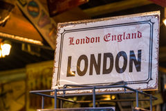 Replica Vintage London Street Sign Stock Images