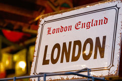 Replica Vintage London Street Sign Stock Image
