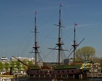 A replica of the VOC ship Amsterdam Royalty Free Stock Photography