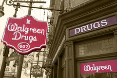 Replica Walgreen Chemist shop. Walgreen chemist shop replica in Universal Studios Orlando Royalty Free Stock Photography