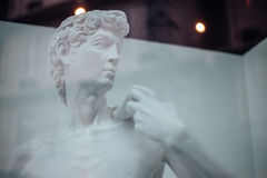 Replica White David Sculpture in Gallery.  Royalty Free Stock Image