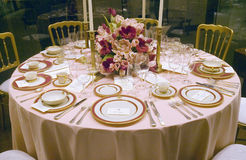 Replica of a White House state dinner on display. At the Ronald Reagan Presidential Library and Museum, Simi Valley, CA Royalty Free Stock Image