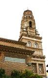 Replicate da torre de Utebo de Zaragoza na vila espanhola imagens de stock
