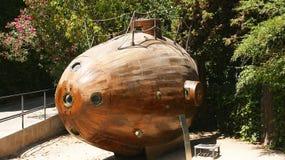 Replication of submarine of Monturiol Royalty Free Stock Photo