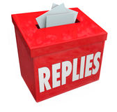 Replies Box Collecting Responses Suggestions Feedback Royalty Free Stock Photo