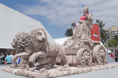 Replik der Cibeles Statue lizenzfreie stockfotos