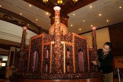Replik der Moschee gemacht von der Palme lizenzfreie stockbilder