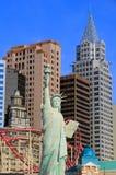 Replik des Freiheitsstatuen vor New York - New York heiß stockfoto