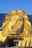 Replik des Löwes am Eingang des Mgm- Grandhotels, Las Vegas, Nanovolt stockbilder