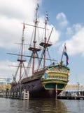 Replik des Schiffs Dutch East India Company lizenzfreie stockbilder