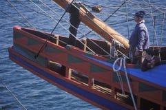 Replik des Schiffsmodells Mayflower II lizenzfreie stockfotos