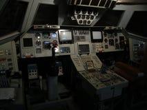Replik eines Cockpits der sowjetischen Raumfähre stockfoto