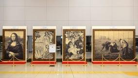Replik-Malereien in Osaka, Japan lizenzfreie stockbilder