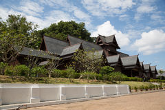 Replik Melakas des Sultanats-Palastes in Malakka lizenzfreie stockfotografie