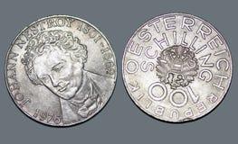 Replik Oesterreich un anno 1976 di 100 scellini immagine stock